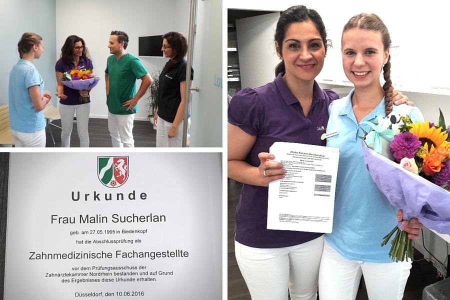 Abschlussprüfung Zahnmedizinische Fachangestellte Malin